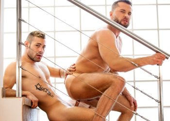 "Men.com: Ricky Blue pounds Tyler Berg and cums in his face in ""Refuge"" (part 2)"