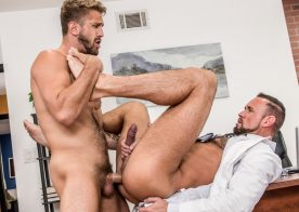"Icon Male: Wesley Woods and Michael Roman flip-fuck in ""The Doctor is in… Me"" part one"