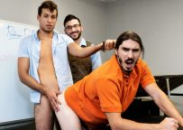 """MEN: Scott Demarco shows Tim Hanes and Damien Kyle how it's done in """"A Lesson In Love"""""""