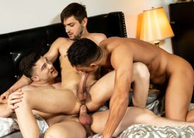 "MEN: Collin Simpson, Jax Thirio & Johnny Rapid fuck in ""Bed and Cock Fest"" (scene 1)"