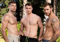 Next Door Studios: Carter Woods, Michael Boston and David Skylar in a raw threesome