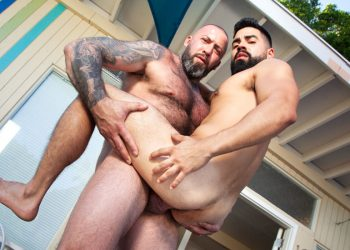 "Raging Stallion: David Cruise takes Alexander Kristov's daddy dick in ""Get A Room"" (scene 3)"