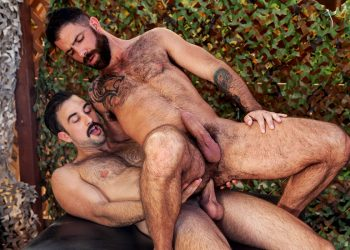 "Raging Stallion: Mason Lear flip-fucks with Jake Nicola in ""Get A Room"" (scene 5)"