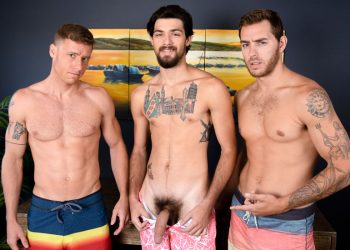 "Next Door Studios: LeeRoy Jones, Carter Woods & Justin Matthews fuck in ""The Awkward Boner"""