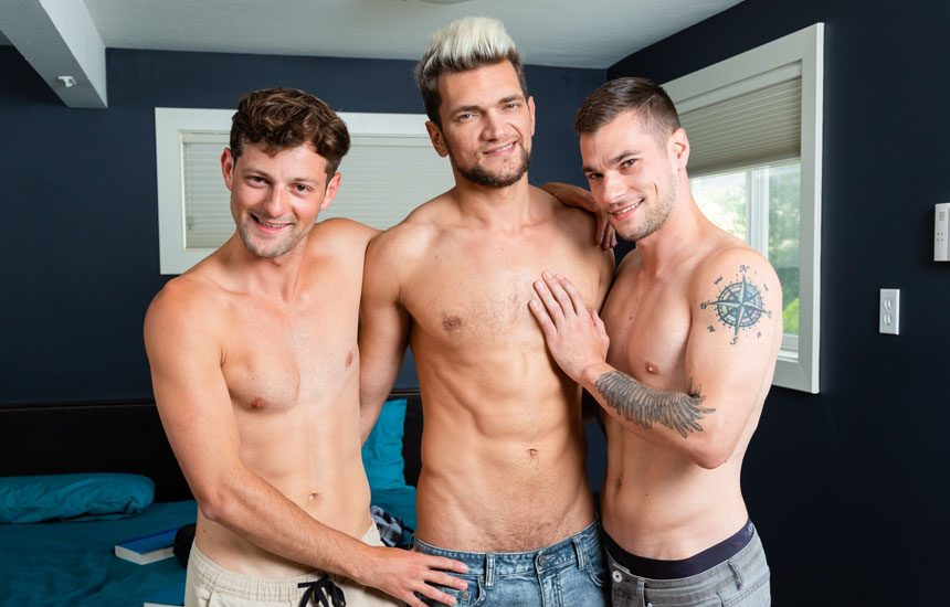 """Next Door Studios: Andre Grey, Adonis Cole and Princeton Price fuck in """"The Study Group"""""""