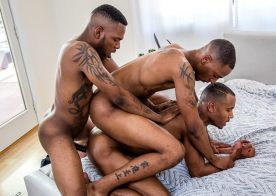 Noir Male: Aaron Reese fucks his stepbrother Titus McMasters & his boyfriend Jigz Castelo