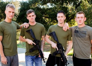 Active Duty: Phoenix River, Ryan Jordan, Blake Effortley and Logan Lane fuck