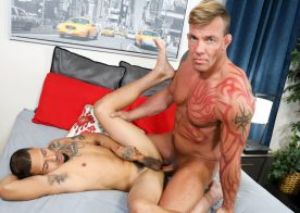"Pride Studios: Juan Carlos bottoms for Tristan Brazer and takes his raw dick in ""Bro Fuck Me"""