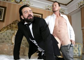 Men At Play: Butler Miguel Angel services Pierce Paris and takes his big cock