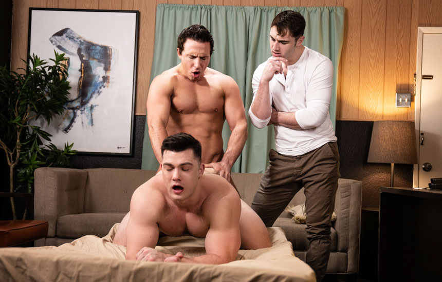 "Reese Rideout is back and fucks Collin Simpson in ""Dr. Wood"" (scene 1)"