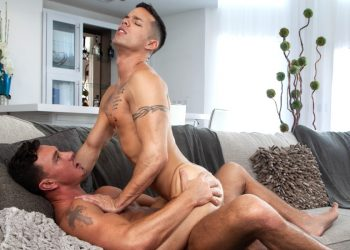 "Falcon Studios: Nic Sahara takes Cade Maddox's thick dick in ""Fill Me Deep"" (scene 4)"