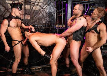 MEN: Nate Grimes gets fucked and fisted by Dirk Caber, Jaxx Thanatos & Kurtis Wolfe