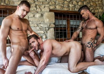 "Lucas Entertainment: Adam Killian and Andrey Vic fuck Ace Era in ""Loaded With Seed"" (scene 2)"