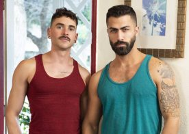 "Masqulin: Cayden Stone and Adam Ramzi flip-fuck in ""Motel Exhibition"" (scene 2)"