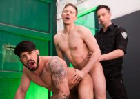 """Masqulin: Officer Damon Heart fucks Pietro Duarte and Ethan Chase in """"Pulled Over"""""""