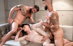 "Icon Male: Adam Ramzi and Jake Nicola fuck their nephew Avery Jones in ""Step Uncle 3-Way"