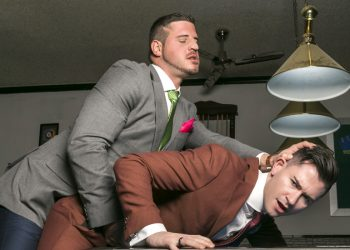 "Men At Play: David Cork fucks Lukas Daken on a pool table in ""Work Hard(er)"""