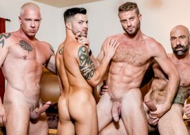 "Icon Male: Ryan Carter, Link Parker, Drew Sebastian & Casey Everett in ""Dad's Poker Night"""