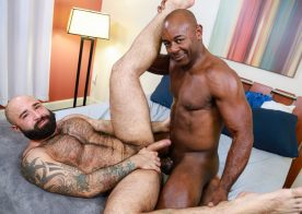 "Pride Studios: Atlas Grant gets fucked by Aaron Trainer in ""Dick 'N' Fur"""