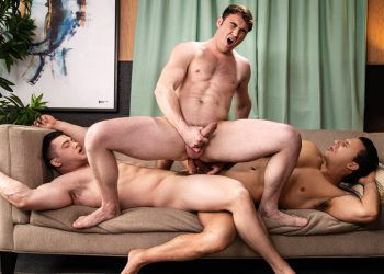 "MEN: Collin Simpson & Reese Rideout double-penetrate Michael Boston in ""Dr. Wood"" (sc 3)"