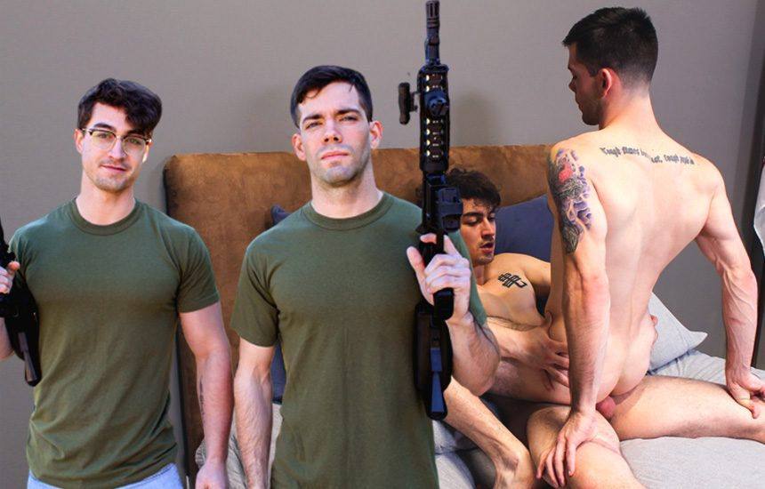 Active Duty: Jack Greyson fucks Julian Brady in his first hardcore scene