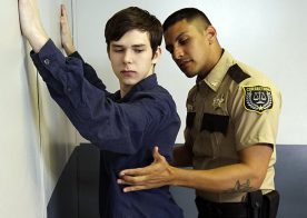 Young Perps (Case #2003083-88): Officer Leo Silva plows Dakota Lovell's tight boy hole