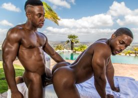 "Icon Male: Liam Cyber and DeAngelo Jackson flip-fuck in ""Rubdown"" (scene 4)"