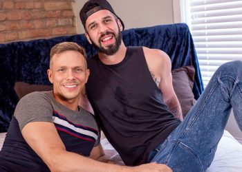 Bareback That Hole: Bearded top Romeo Davis plows Ethan Chase's bare ass