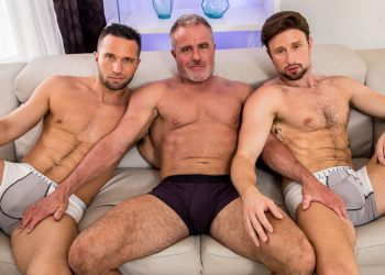 "Icon Male: Dale Savage, Colby Tucker and Drew Dixon fuck in ""Rubdown"" (scene 3)"