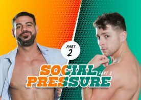 "Masqulin: Calvin Banks gets fucked by daddy Rico Vega in ""Social Pressure"" (scene 2)"