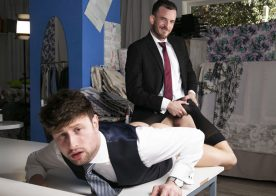 "Men At Play: Franky Fox pounds Drew Dixon's bare ass in ""The Tailor & Franky"""