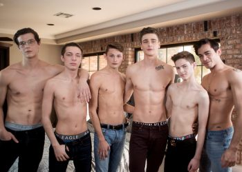 "Helix Studios: The ""Inside Helix"" series ends with a super hot bareback orgy"