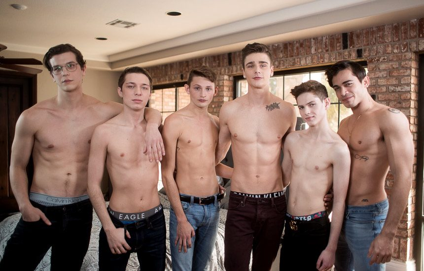 """Helix Studios: The """"Inside Helix"""" series ends with a super hot bareback orgy"""