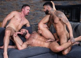 "Raging Stallion: Jesse Zeppelin, Sharok & Rikk York fuck in ""Loaded: Muscle Fuck"" (scene 5)"