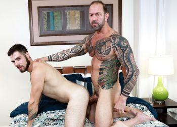 "Pride Studios: Jack Winters takes Vic Rocco's thick daddy cock in ""Taking It Deep"""