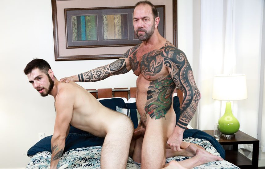 """Pride Studios: Jack Winters takes Vic Rocco's thick daddy cock in """"Taking It Deep"""""""