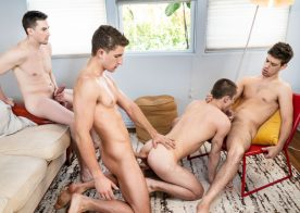 "MEN: Zane Williams, Michael DelRay & Jack Hunter fuck Theo Brady in ""Three Brothers"" (scene 3)"