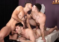 "MEN: Collin Simpson, Michael Boston & Dante Colle fuck in ""Tumbling Towards Ecstacy"" (sc 3)"