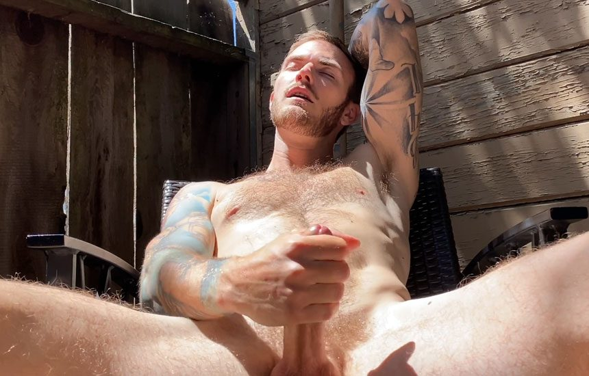Pride Studios: Christian Wilde is back and strokes his big dick in a homemade video