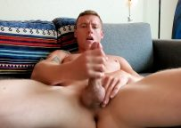 Next Door Studios: Justin Matthews strokes his hard cock in a homemade video