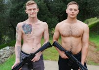 Active Duty: Hot redhead Jesse Nice gets fucked by fellow recruit Justin Weston