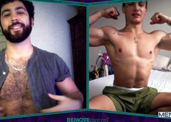 "MEN: Remy Duran and Luis Rubi video chat and jerk off in ""Remote Control"" (scene 2)"