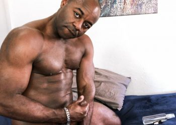 Pride Studios: Aaron Trainer plays with his big cock at Extra Big Dicks