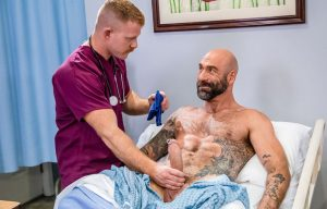 "Icon Male: Jack Vidra rides Drew Sebastian's thick cock in ""The Doctor Is In Me #2"" (scene 2)"