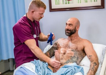 "Icon Male: Jack Vidra rides Drew Sebastian's fat cock in ""The Doctor Is In Me #2"" (scene 2)"