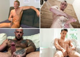 Solo Performances: Davey Marks, JV Marx, Sean Duran and Eros Mancini jerk off