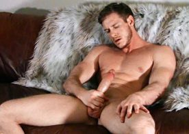 Sean Cody: Jax strokes his big cock, fucks a tight strokes and uses a dildo
