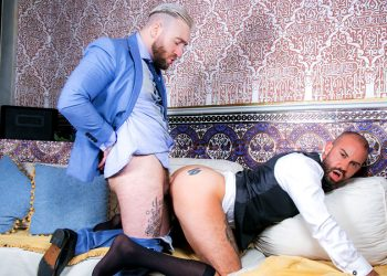 "Men At Play: Manuel Scalco barebacks hot waiter Bruno Max in ""Big Tipper"""