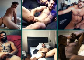 "MEN: 6 hot porn stars jerk off while in a group video call in ""Remote Control"" part 5"