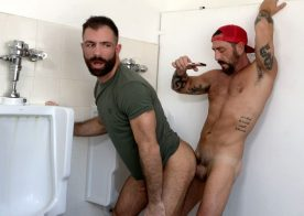 "Raging Stallion: Vince Parker and Jake Nicola flip-fuck in ""Rest Stop"""